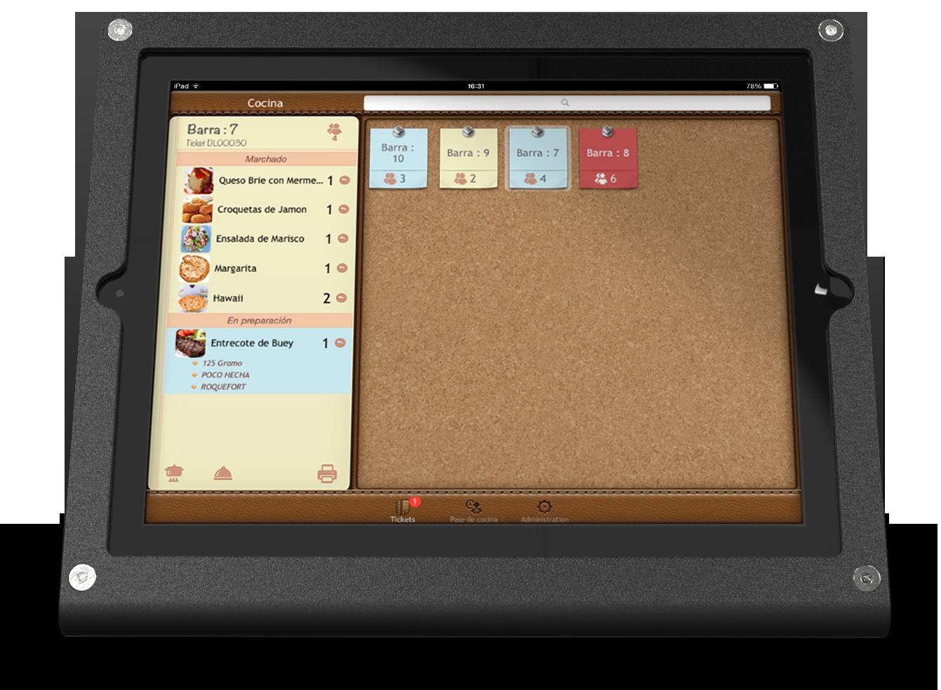 App chef ipad restaurant dual link tpv de hostelería