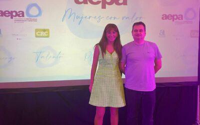 Itziar Pérez López fue galardonada con el Premio AEPA Emprendimiento e Innovación en la gala de entrega de los Premios AEPA